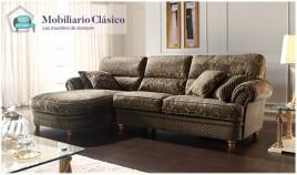 Sofá Chaiselongue Clásico disponible en 3, 2 y 1 Plazas Ref MCA74100