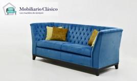 Sofá Clásico con acabado capitoné disponible en 4, 3 y 2 Plazas Ref MCPT11000