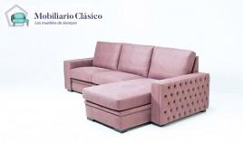Sofá clásico chaiselongue o rinconera disponible tambien en 4, 3, 2 y 1 Plazas Ref MCPT13000n en 4, 3, 2 y 1 Plazas