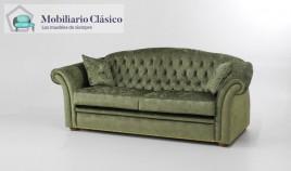 Sofá Clásico con acabado capitoné disponible en 4, 3, 2 y 1 Plazas Ref MCPT23000